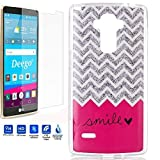 LG G Stylo Case,Nancy's Shop LG Stylus Premium Ultra Slim bumper Scratch Resistant Soft TPU Shock-Absorption+99% Clear HD 0.3mm 9H Tempered Glass Screen Protector(Smile1+ Screen Protector1)