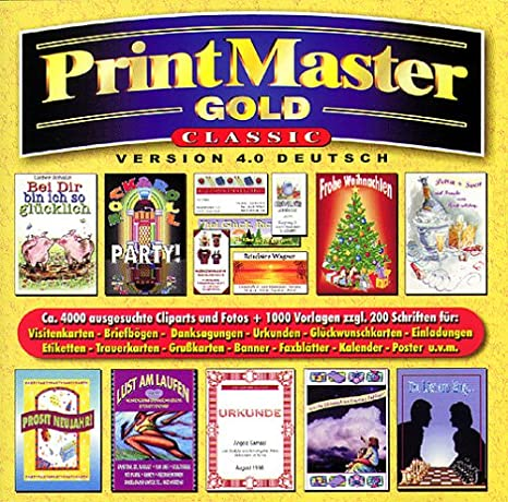 Printmaster 4 0 Gold Classic 1 Cd Rom Visitenkarten