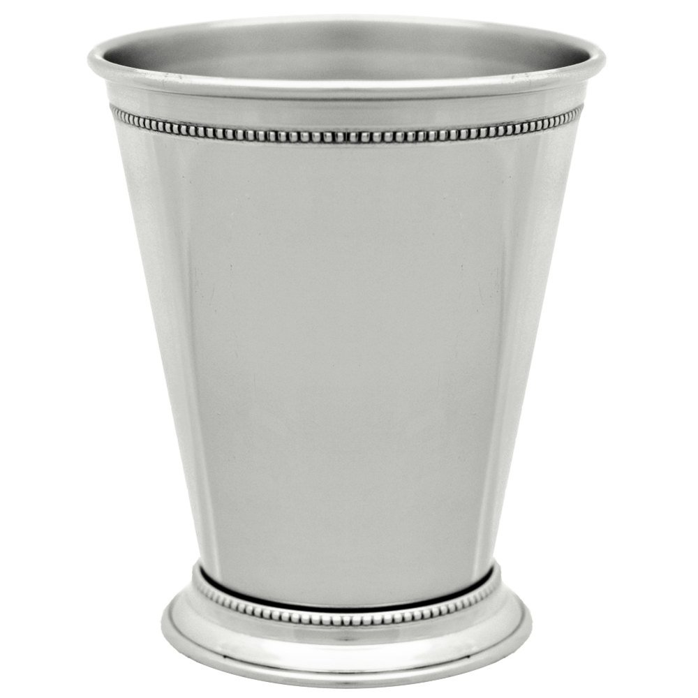 10 Strawberry Street NKL-JULEP 12 oz. Nickel Mint Julep Cup with Beaded Detailing