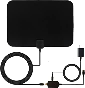 Reignet TV Antenna w/ Detachable Amplifier & Coax Cable