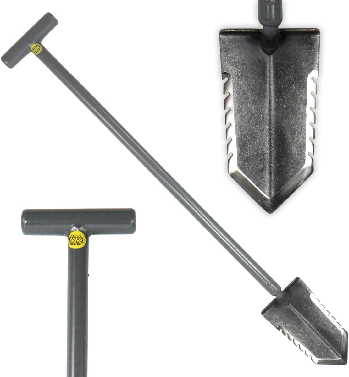Handle 36 Heavy Duty Metal Detector Shovel Double Serrated Blade Lesche T