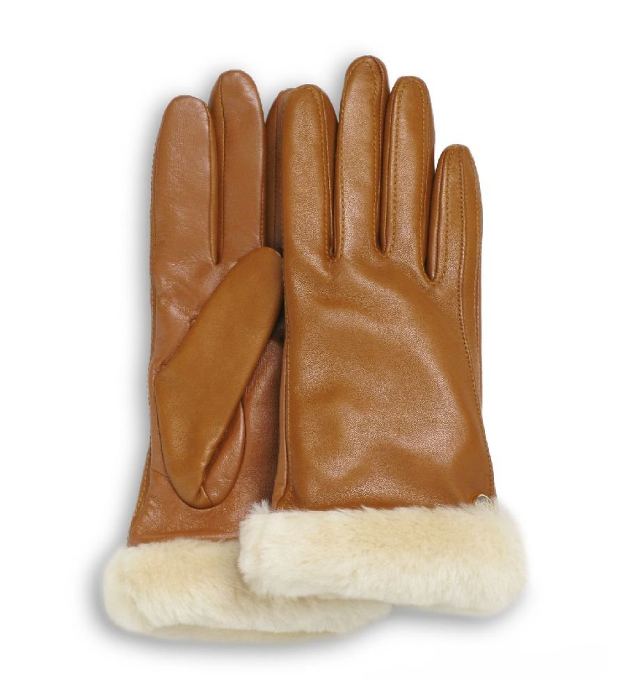 UGG Women's Classic Leather Smart Glove Chestnut SM
