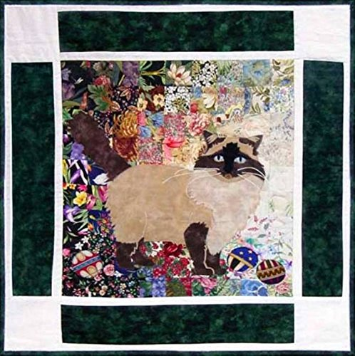 Watercolor Quilt Kit - Rachel's Cat Garden - Block 4 - Rocky Ragdoll Cat - KIT ONLY! ()