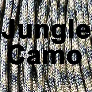 MilSpec Paracord Jungle Camo 11-Strand 110 ft. Hank. Guaranteed MIL-C-5040H Compliant, Military Survival 750 Parachute Cord, Type IV. Made in USA. 100% Nylon, 750 Lb. Break Strength, 2 Free eBooks.