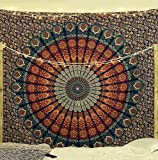 Popular Handicrafts Kp705 Hippie Mandala Bohemian Psychedelic Intricate Floral Design Indian Bedspread Magical Thinking Tapestry King Size
