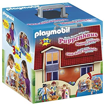 Playmobil    Jeu De Construction  Maison Transportable