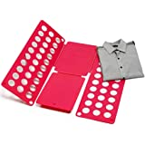 Quality adult magic quick clothes folder - T Shirts, Shirts and Jumpers organizer for adult and child – Quick cloth folding device - Save time - Quick clothes folding board –
