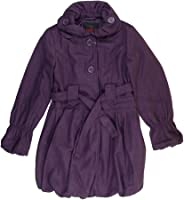 Amazon.com: Yoki Girls Purple Double-Breasted Long Faux Wool Pea