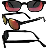 MotoFrames MF Lockdown Motorcycle Riding Sunglasses Black Frames RED G-Tech Reflective Lens with Pouch KD