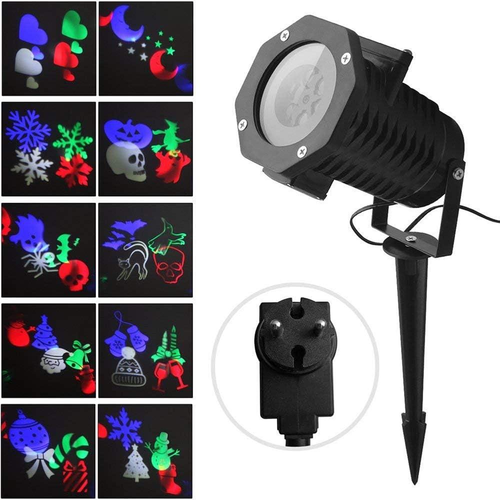 Luces de Proyector Navidad Interior y Exterior Fochea IP65 LED ...