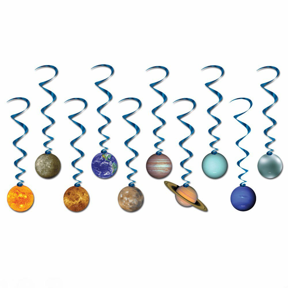 Space SOLAR SYSTEM Planets Party Hanging Decoration DANGLING WHIRLS Swirls