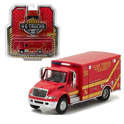 Greenlight Collectibles 1:64 H.D. Trucks Series 9 - 2013 DURASTAR Ambulance - LAS Vegas FIRE Department (LVFD) 33090-C DIECAST RED: Toys & Games