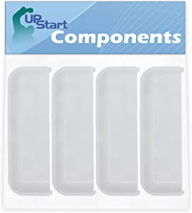 4-Pack W10861225 White Dryer Door Handle Replacement for Whirlpool WED5000DW2 Dryer - Compatible with W10714516 Dryer Handle - UpStart Components Brand