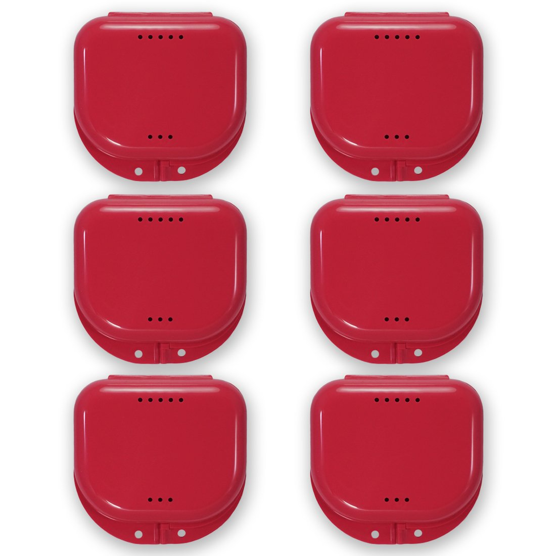 Amazon.com: Retainer Case With Vent Holes and Hinged Lid Snaps (6 ...