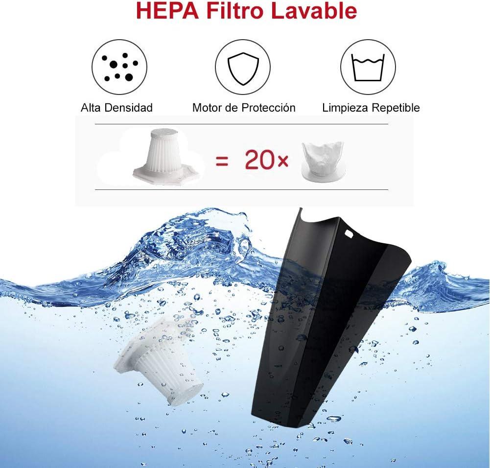 NWOUIIAY Aspiradora de Coche con Cable Potente 7000PA HEPA Filtro Lavable 120W 12V Portátil Cable Largo con 3 Boquillas: Amazon.es: Hogar