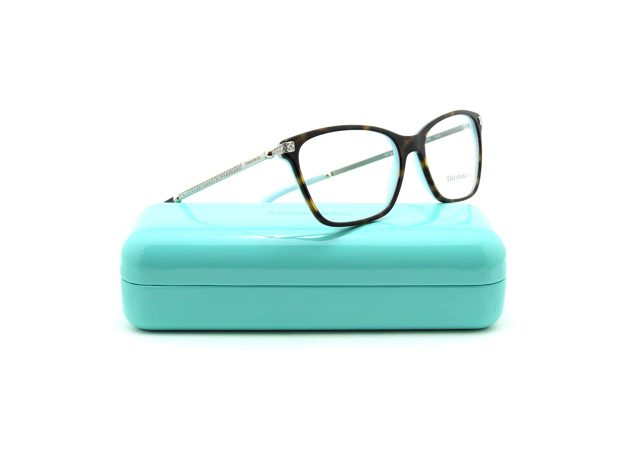 Tiffany & Co. TF 2158-B Women Butterfly Eyeglasses RX - able Prescription Frame (Havana Frame 8134, 54)