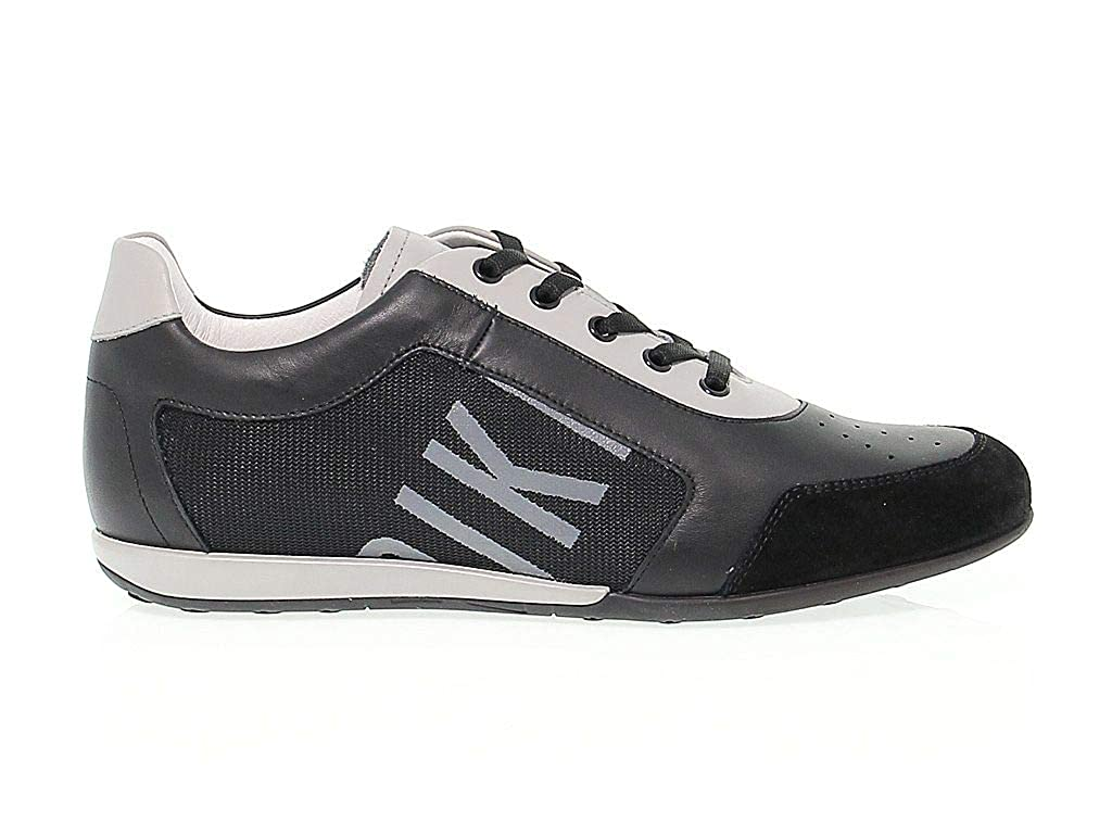 - Bikkembergs Men's BKE107888 Black Leather Sneakers