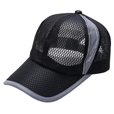 f5df8880 UJUNAOR Summer Breathable Mesh Baseball Cap Men Women Sport Hats(Black ):  Amazon.co.uk: Clothing