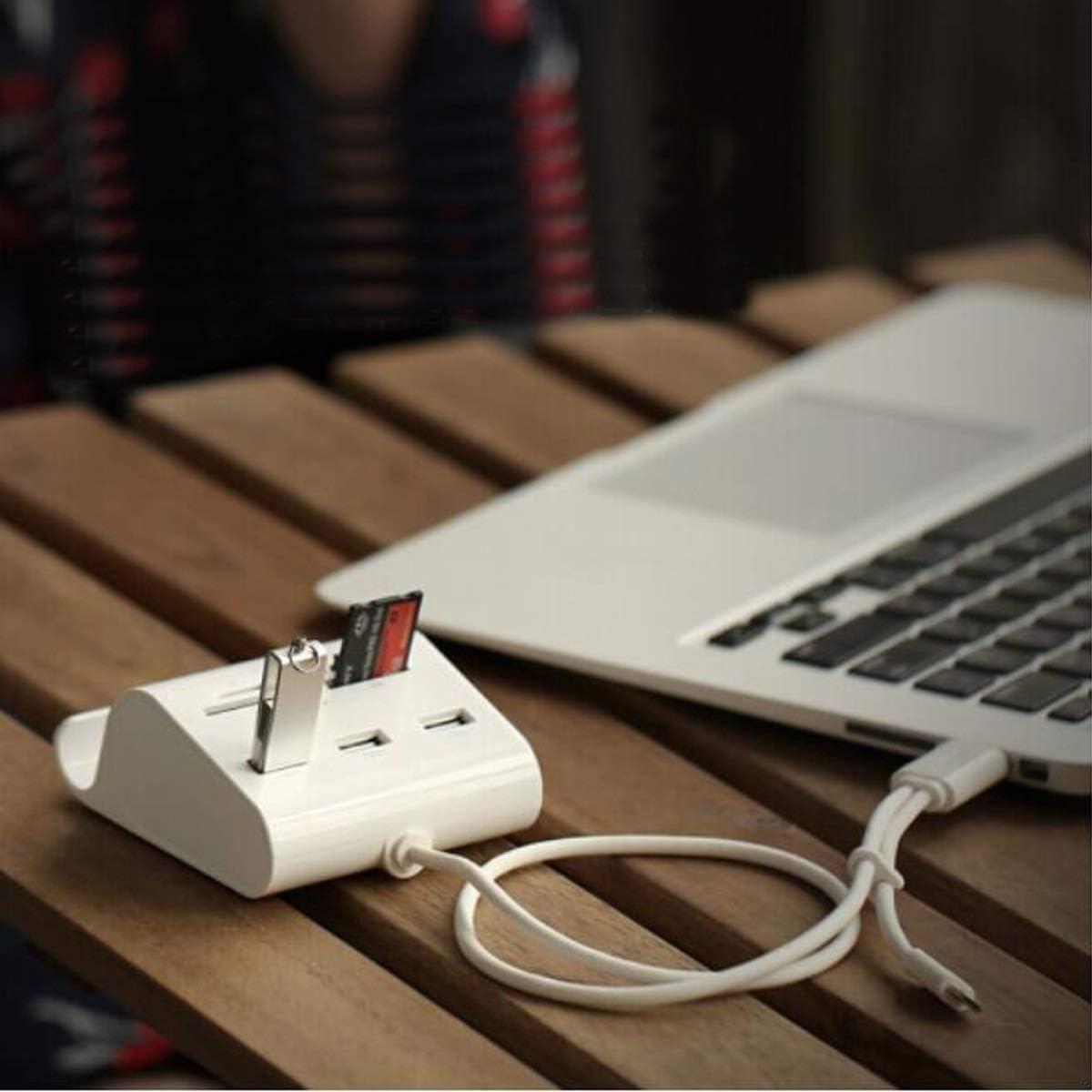 Line Length 1 Meter USB Splitter Hub 3.0HUB Docking Station Color : White