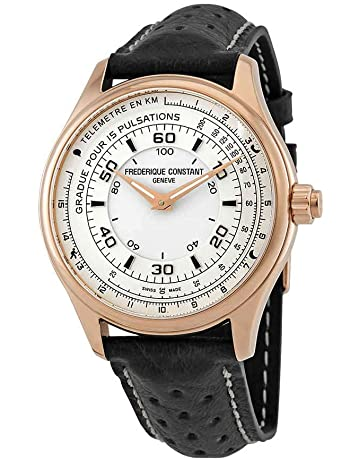 006a10740 Frederique Constant HSW White Dial Leather Strap Men's Watch FC282ASB5B4