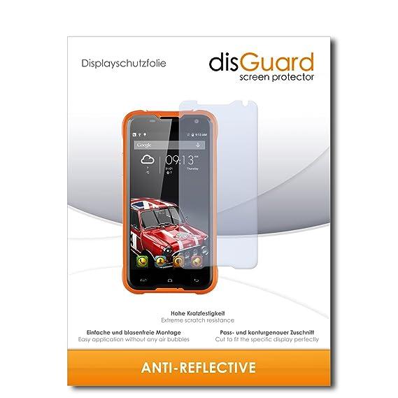 disGuard® Displayschutzfolie [Anti-Reflex] kompatibel mit Blackview BV5000 [2 Stück] Entspiegelnd, Matt, Antireflektierend, E