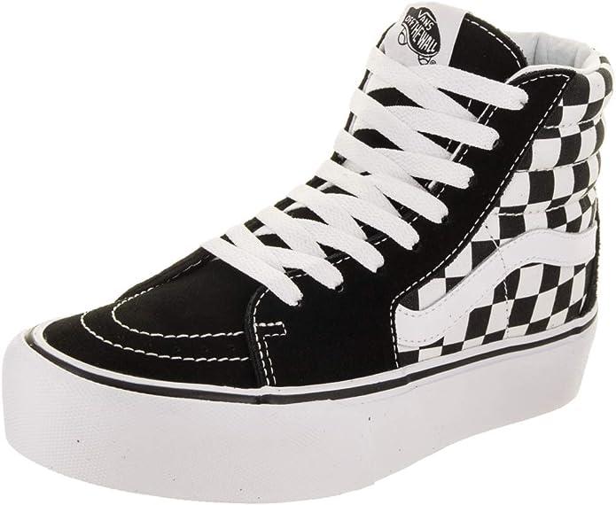 Vans Sk8-Hi Sneakers Platform Unisex Schwarz/Weiß Kariert