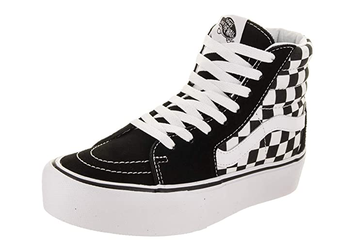 Vans Sk8-Hi Schuhe High Tops Erwachsene Unisex Schwarz Weiß Kariert