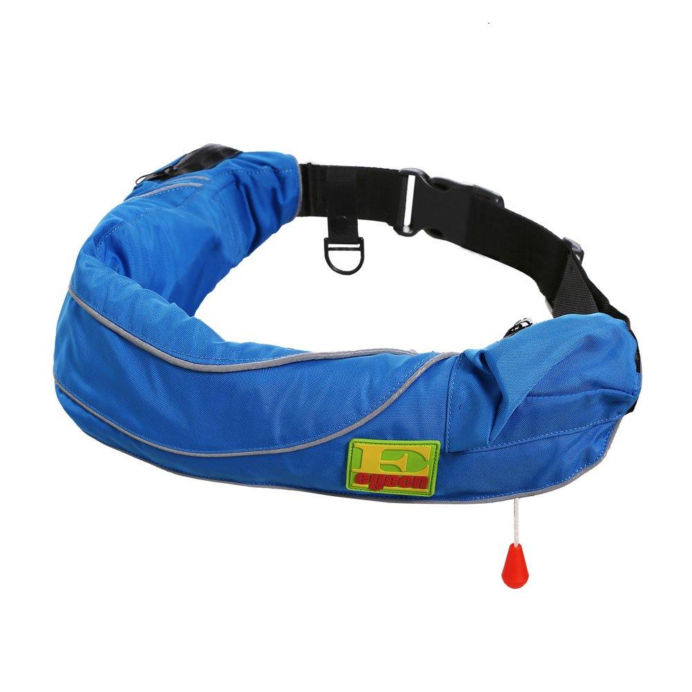 (エイソン) Eyson手動膨張式救命胴衣 救命ベスト ポーチ式方形エアバッグ B00SGV71MU 600 Blue 600 Blue