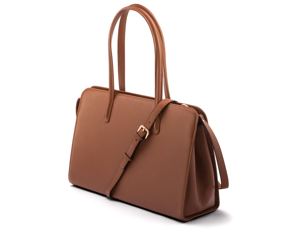 SAGEBROWN Tan Ladies Leather Work Bag