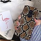 MISC Black Brown Snakeskin Galaxy S6 Edge Plus Sized Case, Bigger Screen Cobra Python Snake Skin Pattern Phone Cover Snake Texture Wild Animal Fashion Stylish Protective Shockproof Slim Soft, TPU