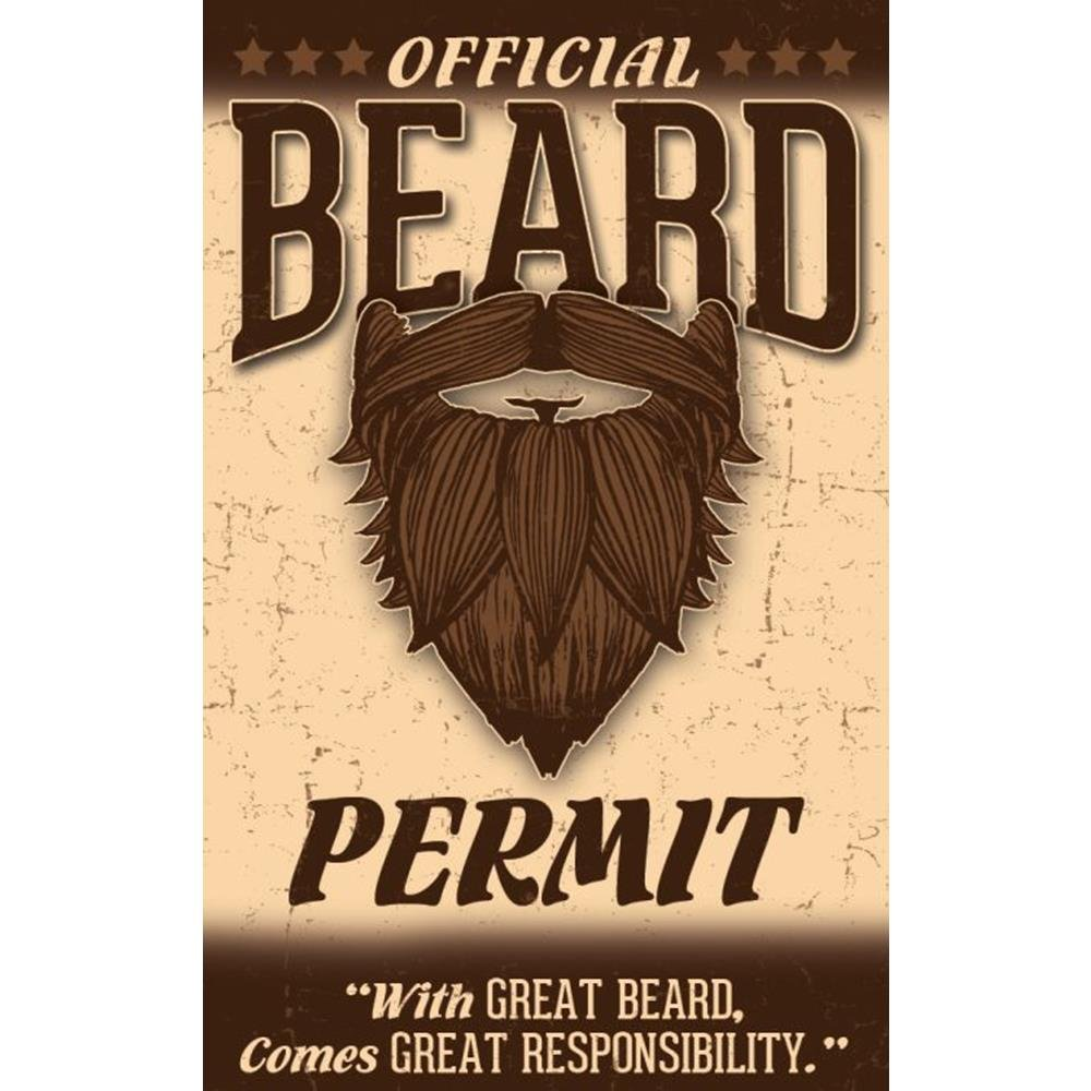 Signs 4 Fun NOBPID Beard Permits Drivers License