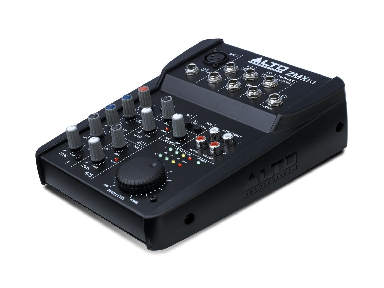 Alto Professional ZMX52 | 5-Channel 2-Bus Mixer with 6 Inputs, 2-Band EQ per Channel & +18V Phantom Power by Alto Professional