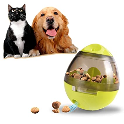feifuns Bola de comida para perros, dispensador de alimentos, juguetes para masticar y alimentar