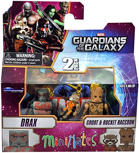 Guardians of The Galaxy Minimates Series 57 Mini Figure 3-Pack Drax, Rocket & Groot