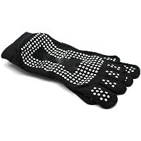 DDU Nouveau Gym Sport exercice de yoga chaussette antidérapant en coton Black