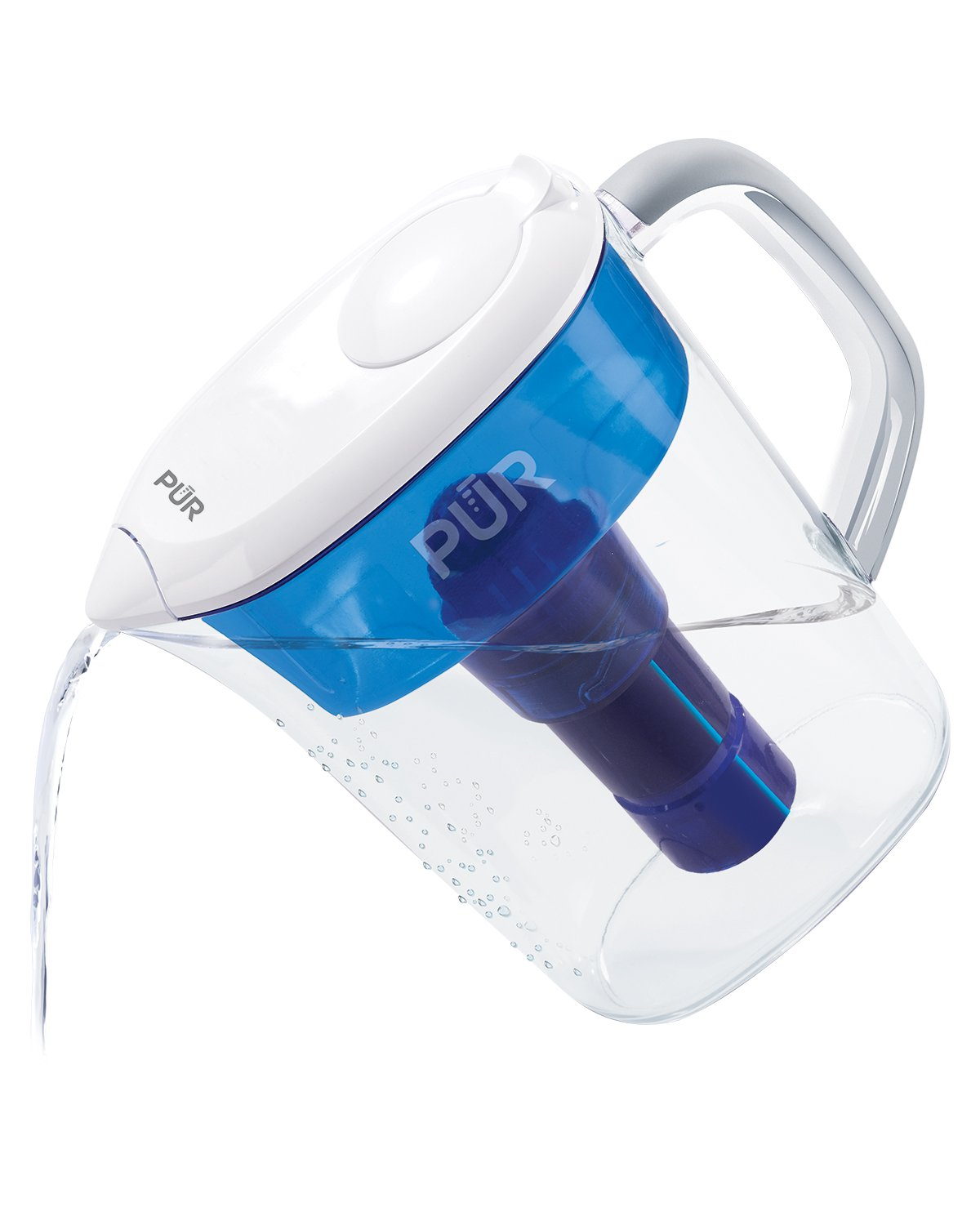 PUR 7 Cup Basic Water Filtration Pitcher, Filter Helps Reduce Chlorine Taste and Odor, Filter Provides Up To 40 Gallons or About 2 Months of Filtered Water by PUR (Image #2)
