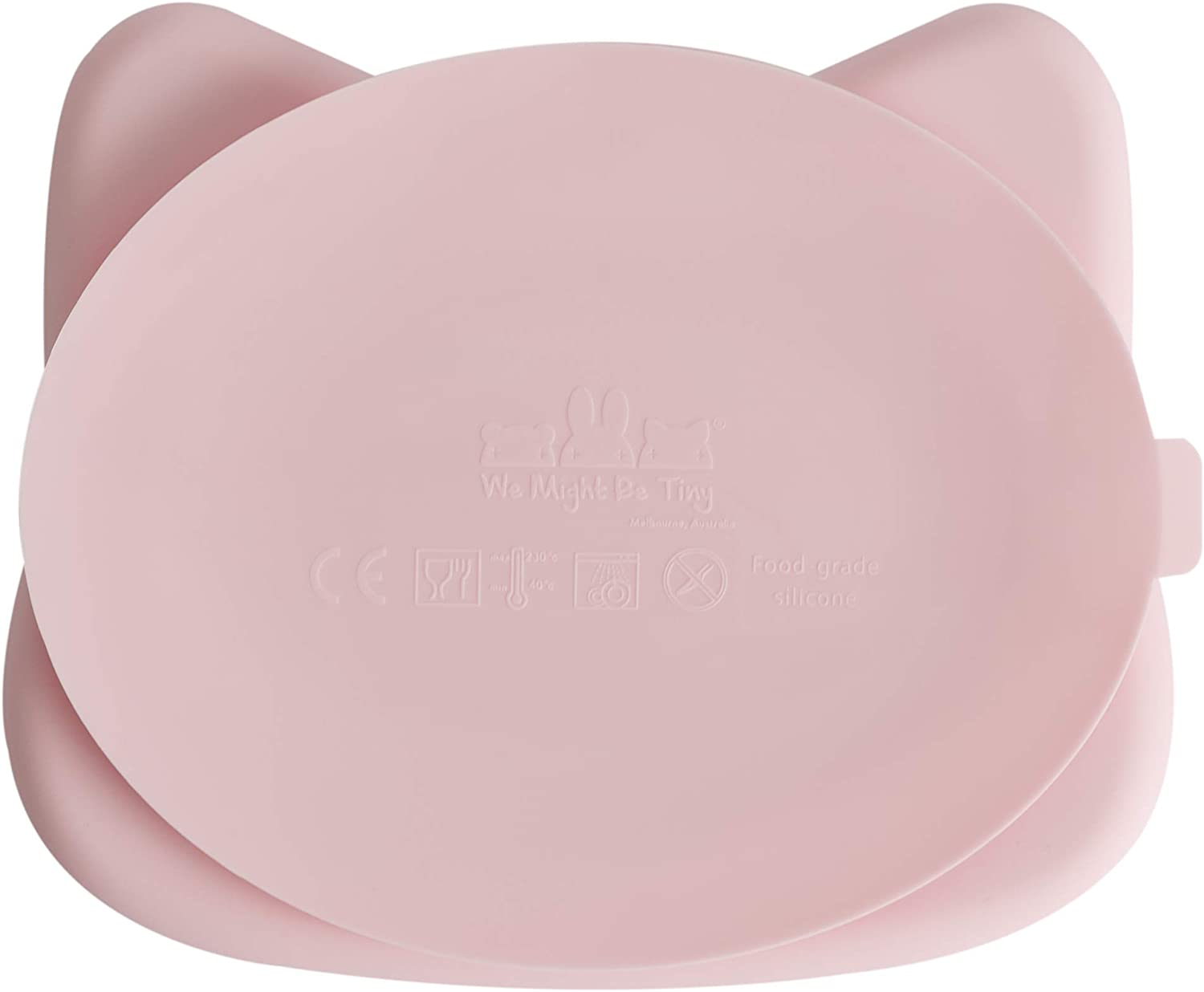 We Might Be Tiny Plaque en silicone pour chat Rose