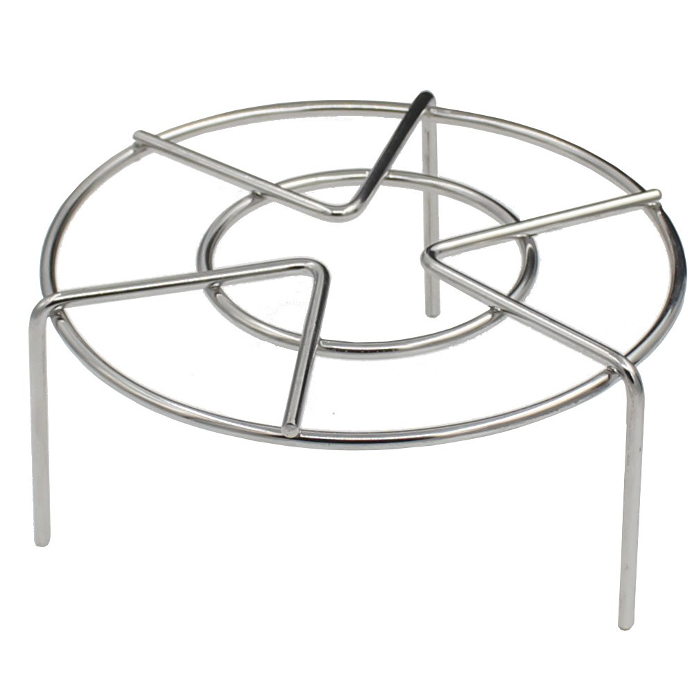 Steam Rack, Zicome Stainless Steel Steaming Rack, 6 Inch Diameter, 2-3/4 Inch High (style 1)