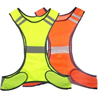 RUIAN Reflective Safety Vest Running Cycling Dog Walking Safety Sports Gear High Visibility for Adults Childrenwith Pocket