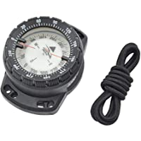 Dyk kompass dykning lysande handled kompass vattentät undervattensnavigering kompass med bungee nattvision svart