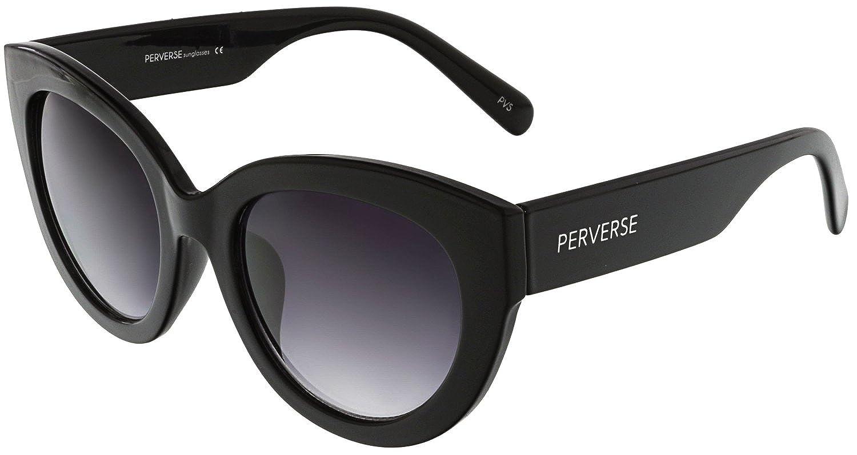 286a917b85 Amazon.com  PERVERSE Sunglasses Women s Dahlia Blackout Glossy Black Black  Gradient One Size  Perverse  Clothing