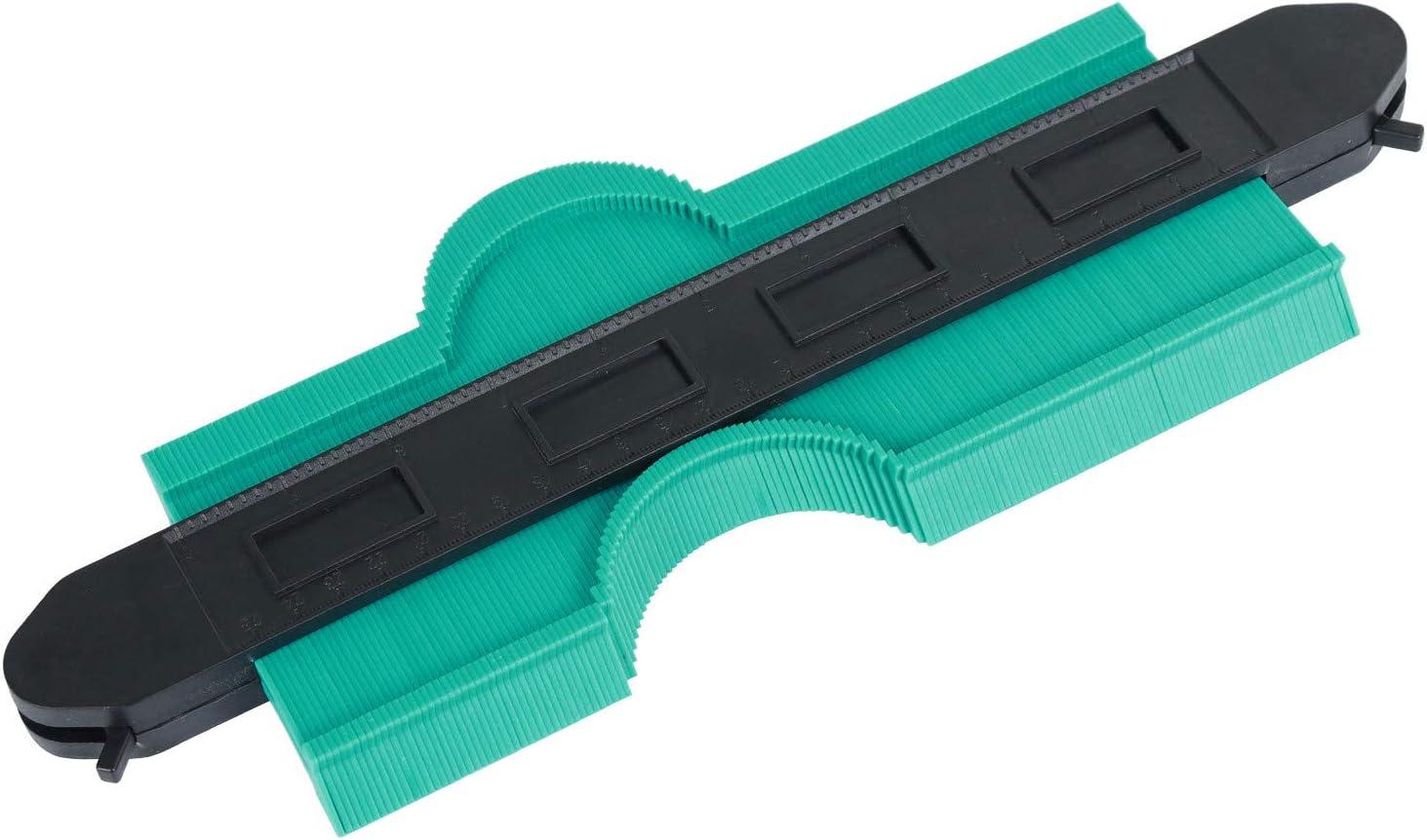 Enor Medidor de Contornos Bloqueable 25cm en Plástico ABS, Medidor Duplicación de Perfil Copiador de Contorno con Cerradura, Herramienta Carpintería para Corte Suelo