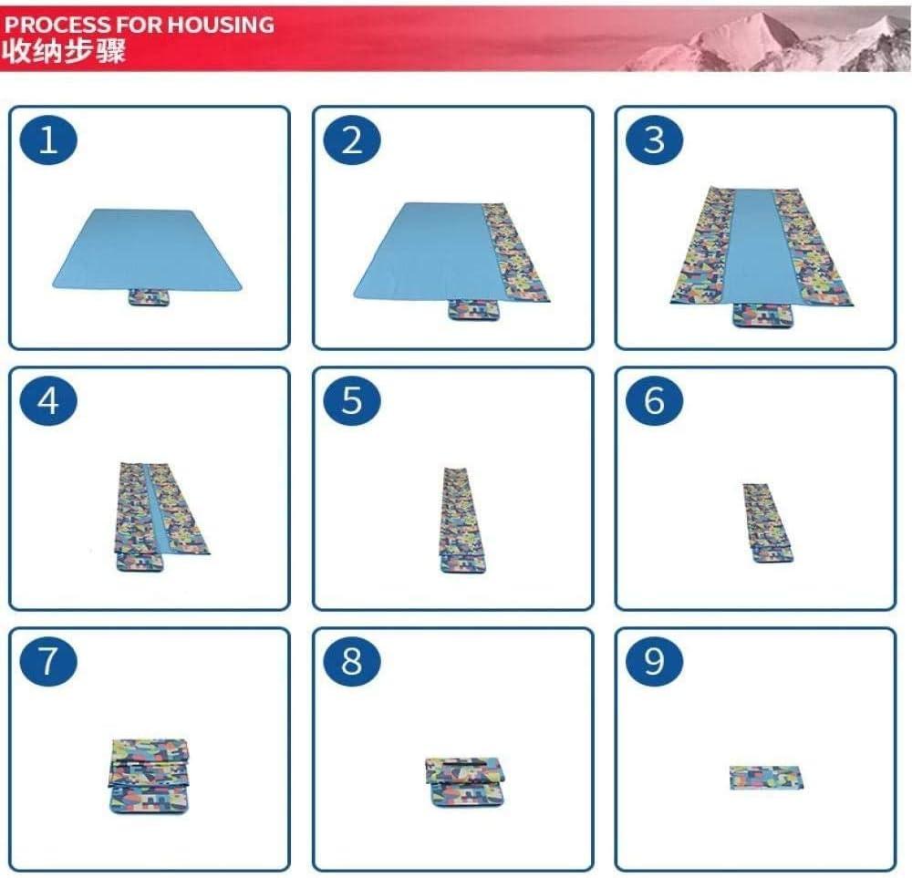 DZTIZI Tappetino Picnic Antivento Prova umidità Pad Ispessito Portatile Impermeabile Esterno PIC-nic Stuoia Viaggio Primavera,Pink Blue