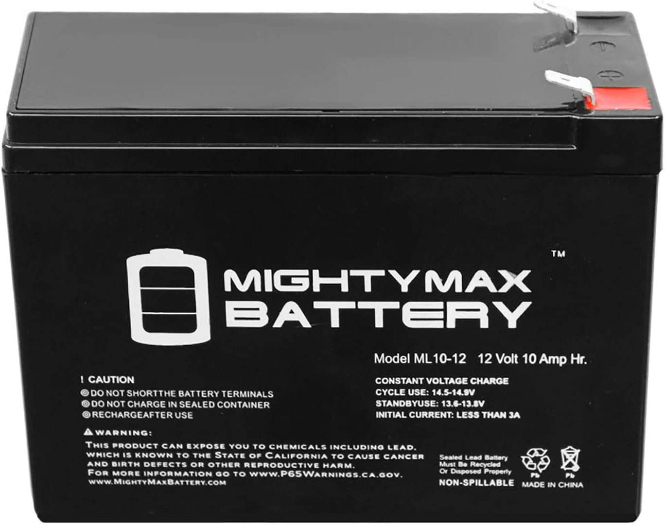 Ground Force Mighty Max 8 Pack 12V 9AH SLA Battery for Razor Dirt Quad