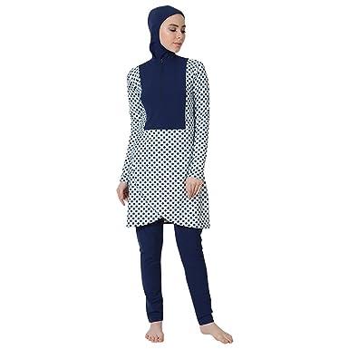 6b2fb401f37 Amazon.com: Petal Hem Half Zip Swimwear Burkini-Final Sale: Clothing