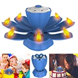 Flameless LED Birthday Candles, Musical Lotus