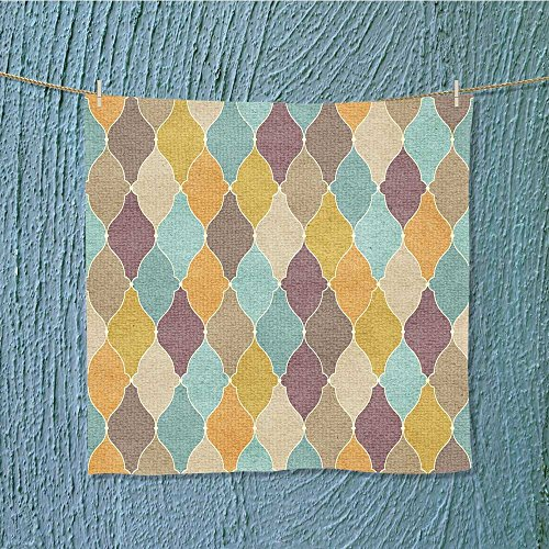 L-QN travel towel vintage wallpaper Moisture Wicking W13.8 x W13.8 by L-QN