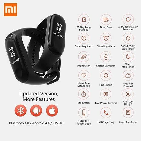 Amazon.com: Xiaomi Mi Band 3 Fitness Tracker 0.78 OLED ...