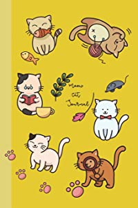 Meow Cat Journal: 6x9 Journals Lined to Write in for Women & Girls by COco Blank Books & Journals; Perfect for Notes, Lists, Ideas, Poems, Diary; 110 ... Cream Paper (COco Blank Books and Journals)