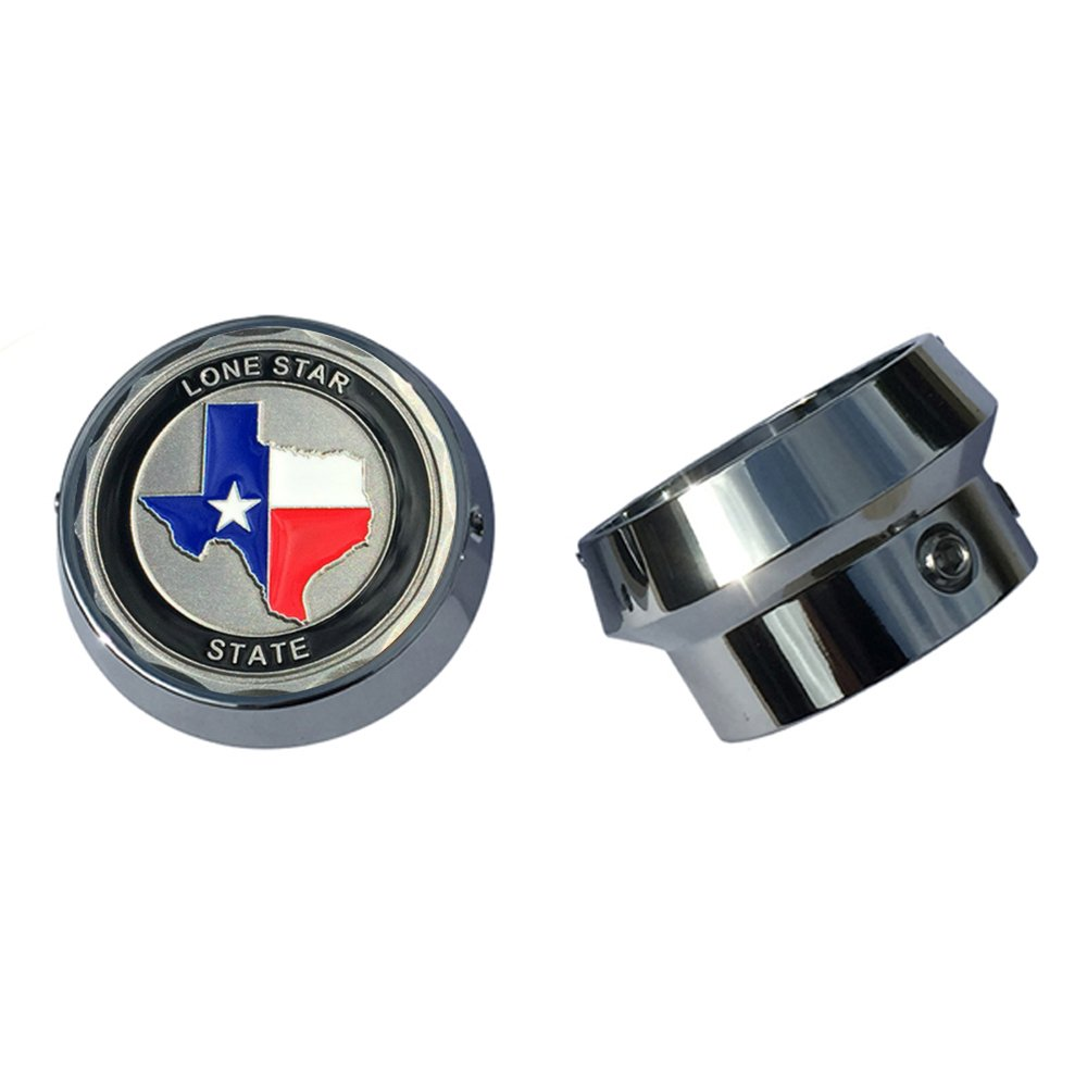 MotorDog69 Texas The Lone Star State Harley Front Axle Coin Mounts